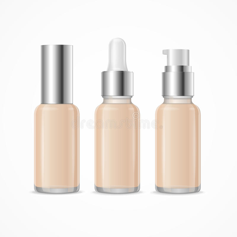 Realistic 3d Empty Template Foundation Cream Tube Package Mock Up Set. Vector. Realistic 3d Empty Template Foundation Cream Tube Package Mock Up Set Cosmetic stock illustration