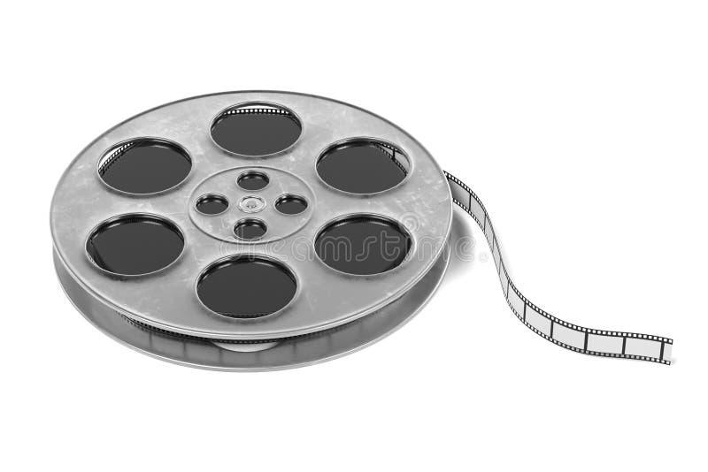 3D Render of Film Reel royalty free illustration