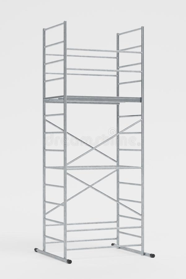 3D Render of Metal Scaffolding stock photography