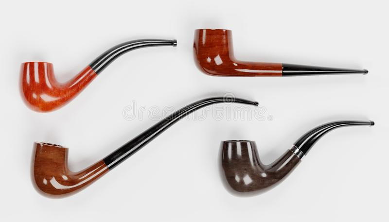 3D Render of Smoking Pipes vector illustration