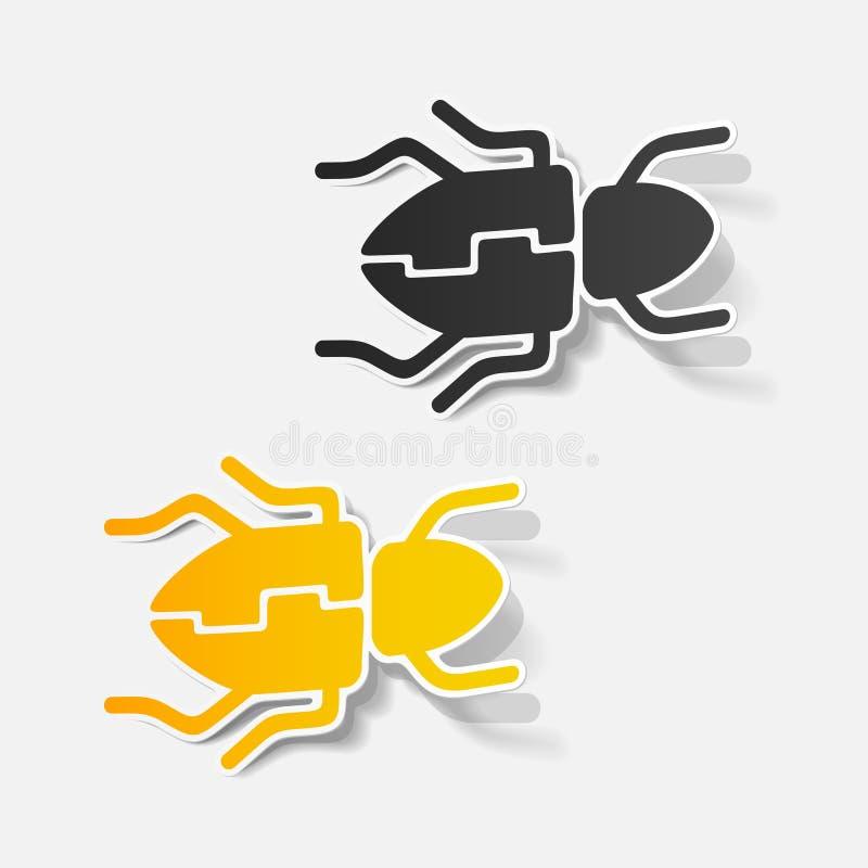 Realistic design element: beetle royalty free illustration