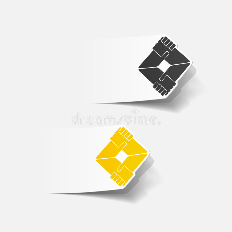 Realistic design element: handshake. Vector Illustration vector illustration