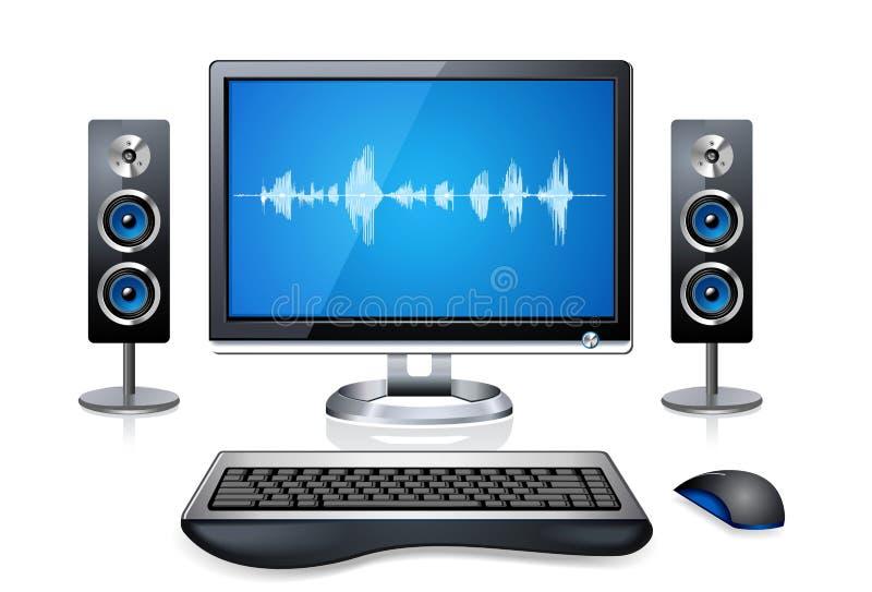 Realistic Desktop Computer stock illustration