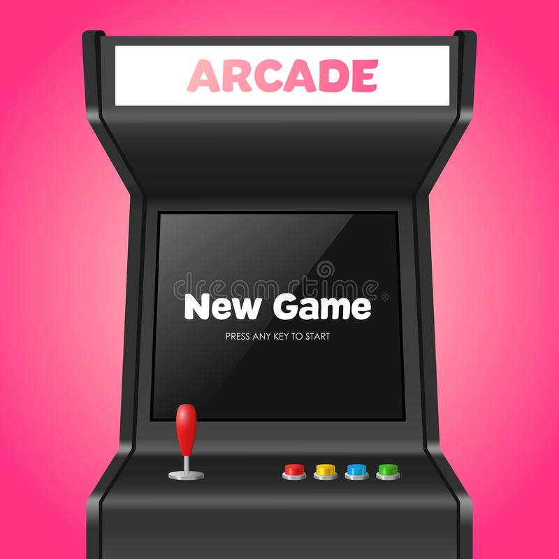 Realistic Detailed 3d Arcade Game Machine. Vector vector illustration