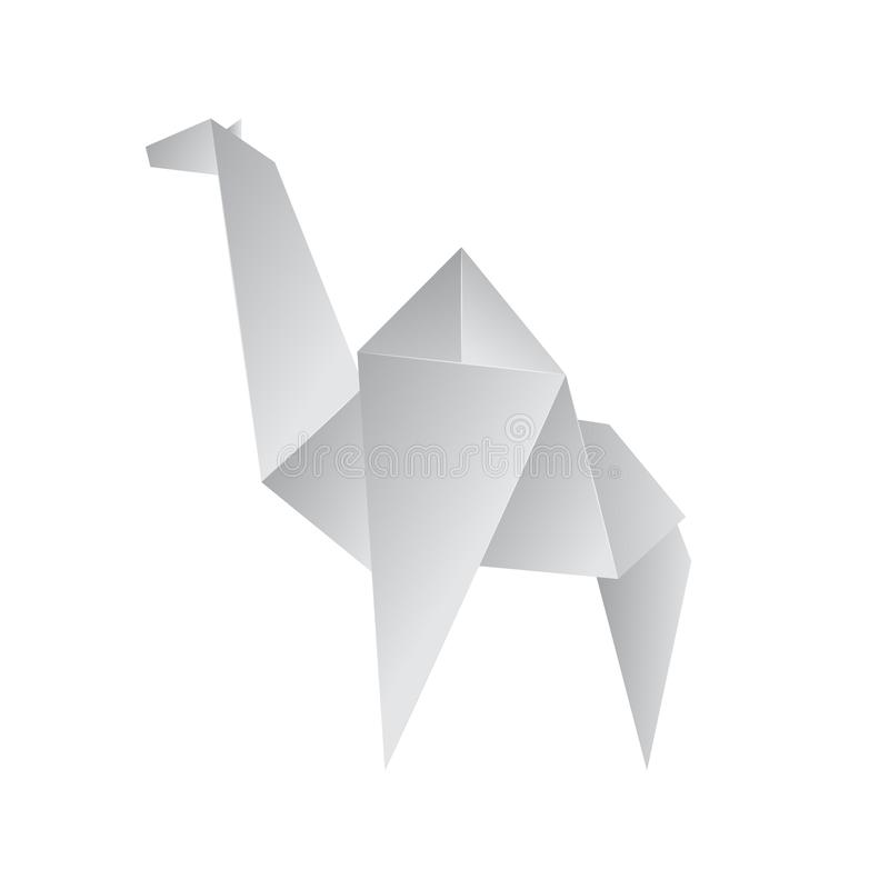 Realistic Detailed 3d Origami Paper Animal Camel. Vector. Realistic Detailed 3d Origami White Paper Animal Camel. Vector illustration of Asian Hobby vector illustration