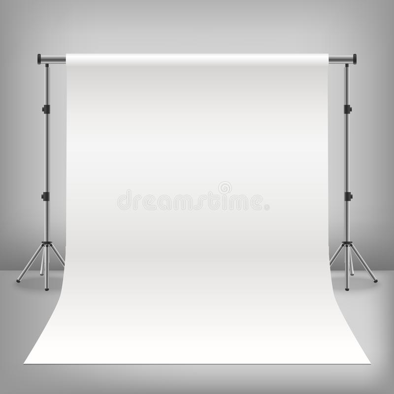 Realistic Detailed 3d Photo Studio White Background. Vector vector illustration