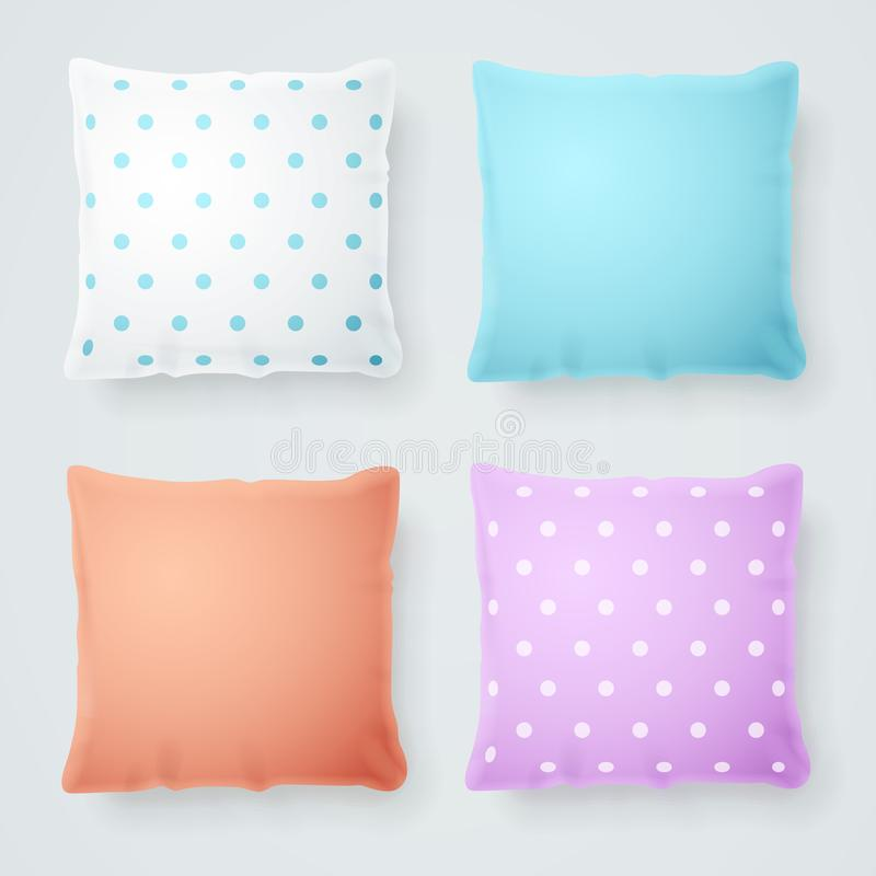 Realistic Detailed 3d Pillow Mock Up. Vector vector illustration