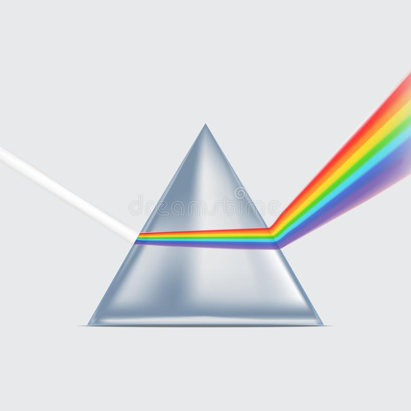 Realistic Detailed 3d Spectrum Prism. Vector royalty free illustration