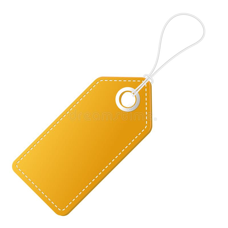 Realistic discount yellow tag for sale promotion. Vector vintage label template. vector illustration