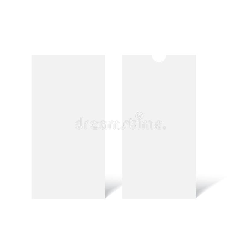 Realistic DL Flyer Mockup. Vector stock illustration