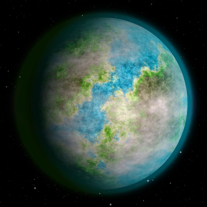 Realistic earth like planet texture stock photography