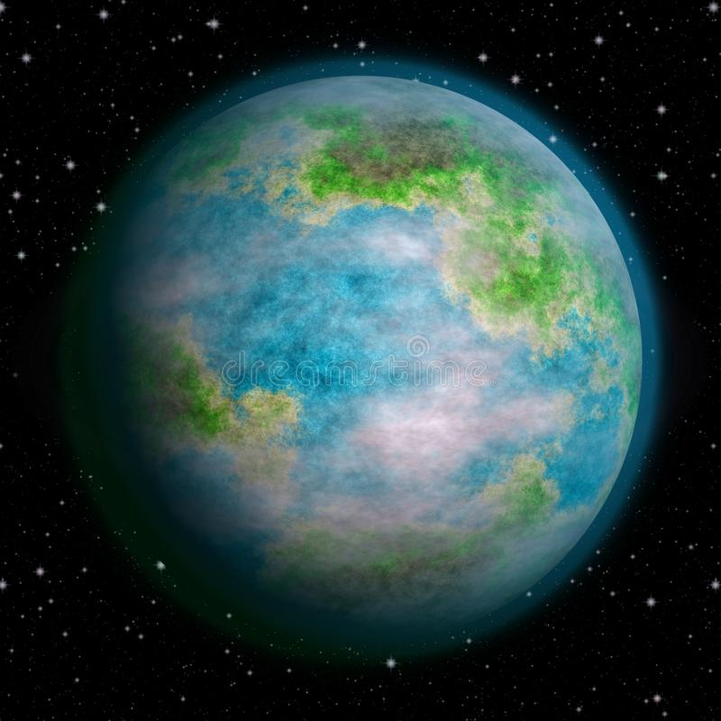 Realistic earth like planet texture royalty free stock photography
