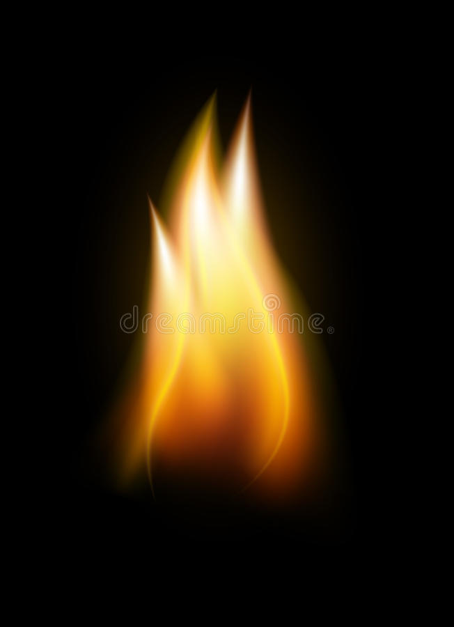 Realistic flame tongue vector element stock illustration