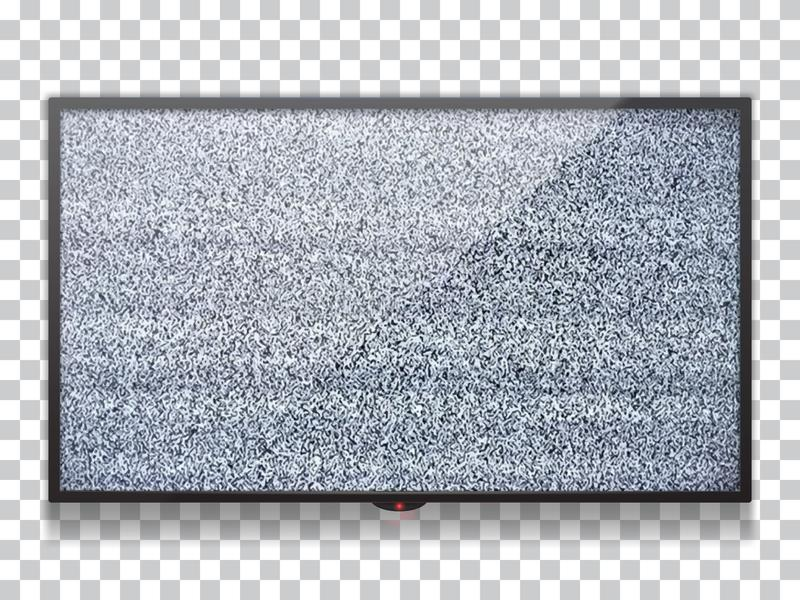 Realistic  flat lcd tv template with static tv black and white noise with glitch effect. Static noise from poor reception of the broadcast signal vector illustration