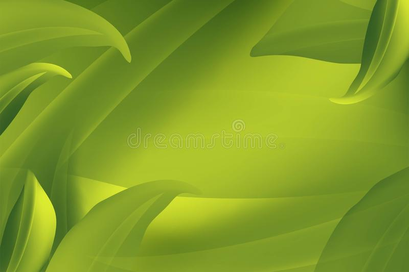 Realistic Fly Green Leaves Pattern Background on a green Organic Element Natural Eco Concept. Vector illustratio. N vector illustration