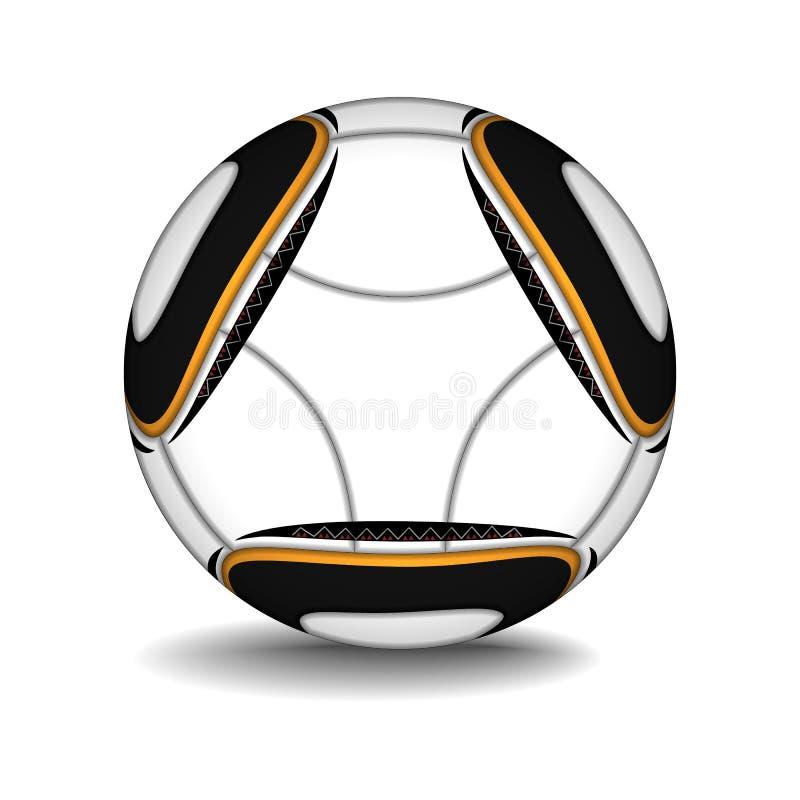 Realistic football ball. stock illustration