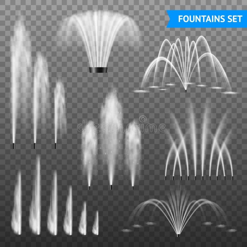 Free Realistic Fountain Transparent Set Royalty Free Stock Photos - 119781158