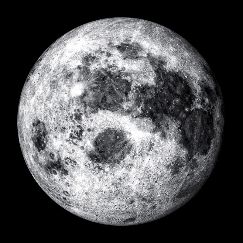 Realistic full moon. Realistic render of full moon
