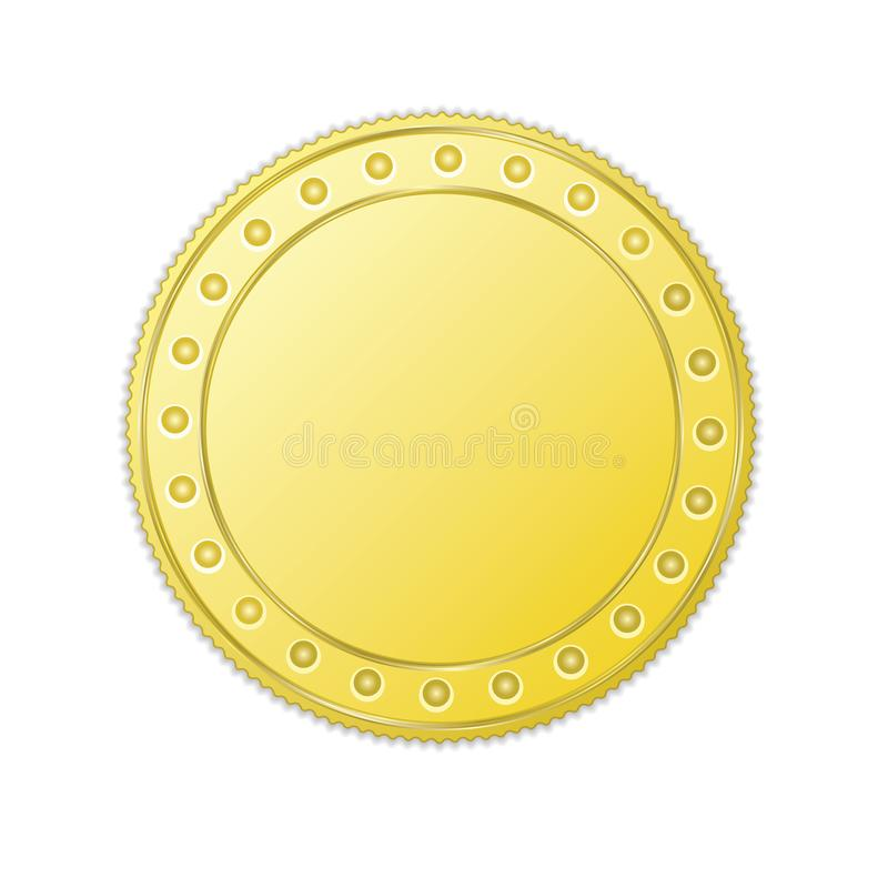Realistic gold coin royalty free illustration