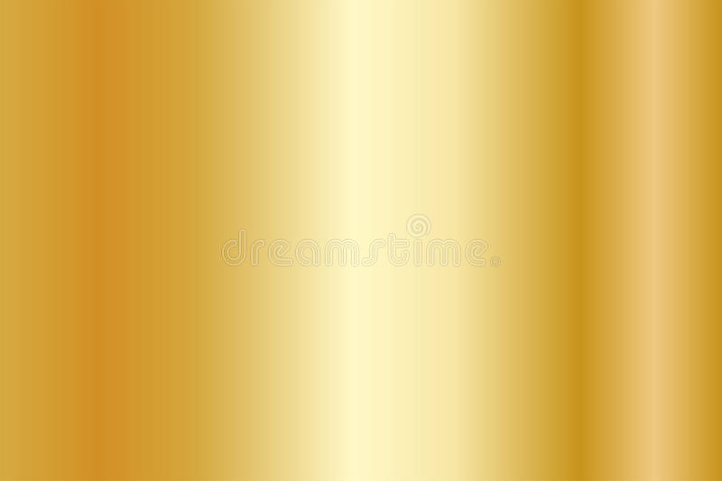 Realistic gold texture. Shiny metal foil gradient royalty free illustration
