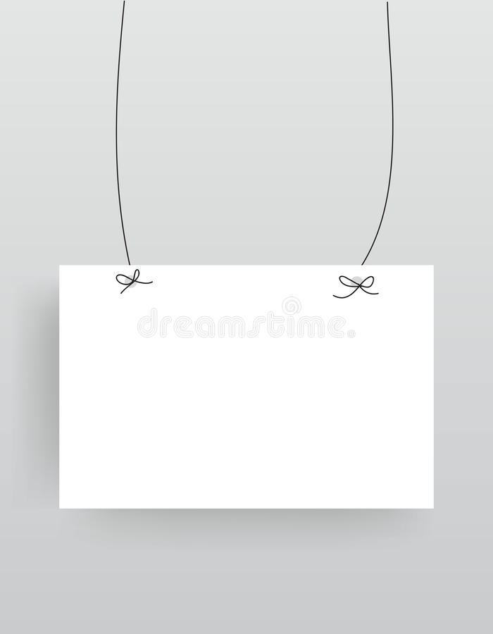 Realistic Hanging Empty Banner Royalty Free Stock Photos