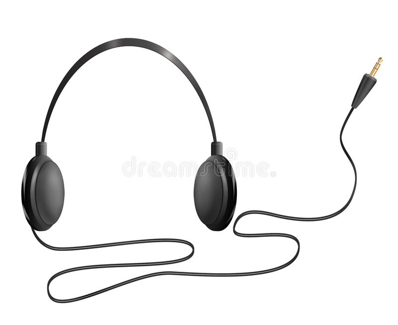 Realistic headphones royalty free illustration