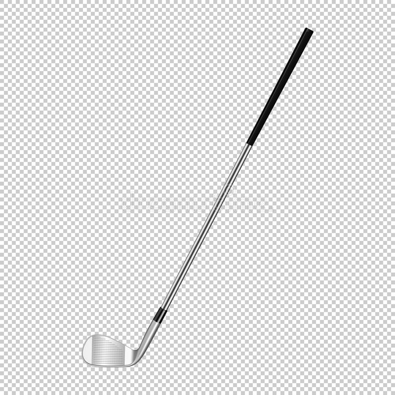 Realistic icon of classic golf club isolated on transparent background. Design template closeup in vector. vector illustration