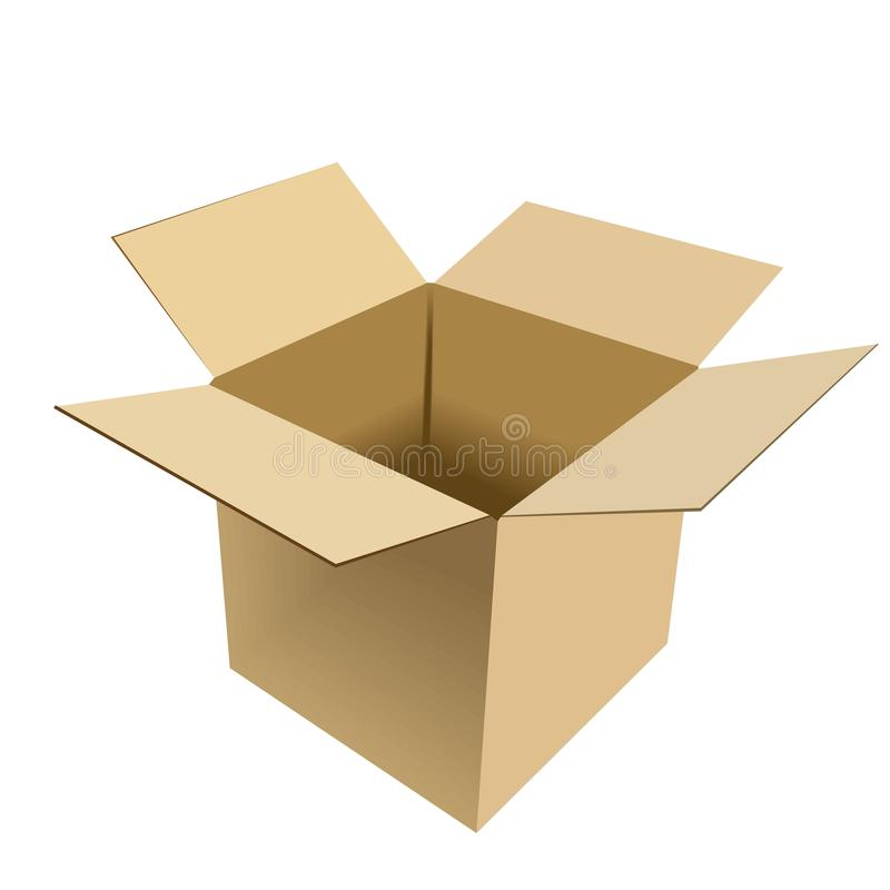 Realistic illustration of box vector illustration