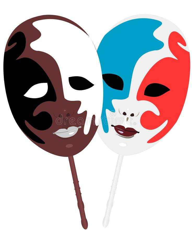 Realistic illustration of carnivals mask royalty free illustration