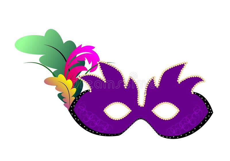 Realistic illustration of carnivals mask vector illustration