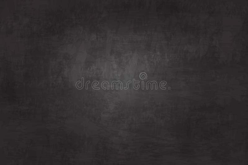 Realistic illustration detailed chalkboard texture background . Black color . Image for education concept royalty free illustration