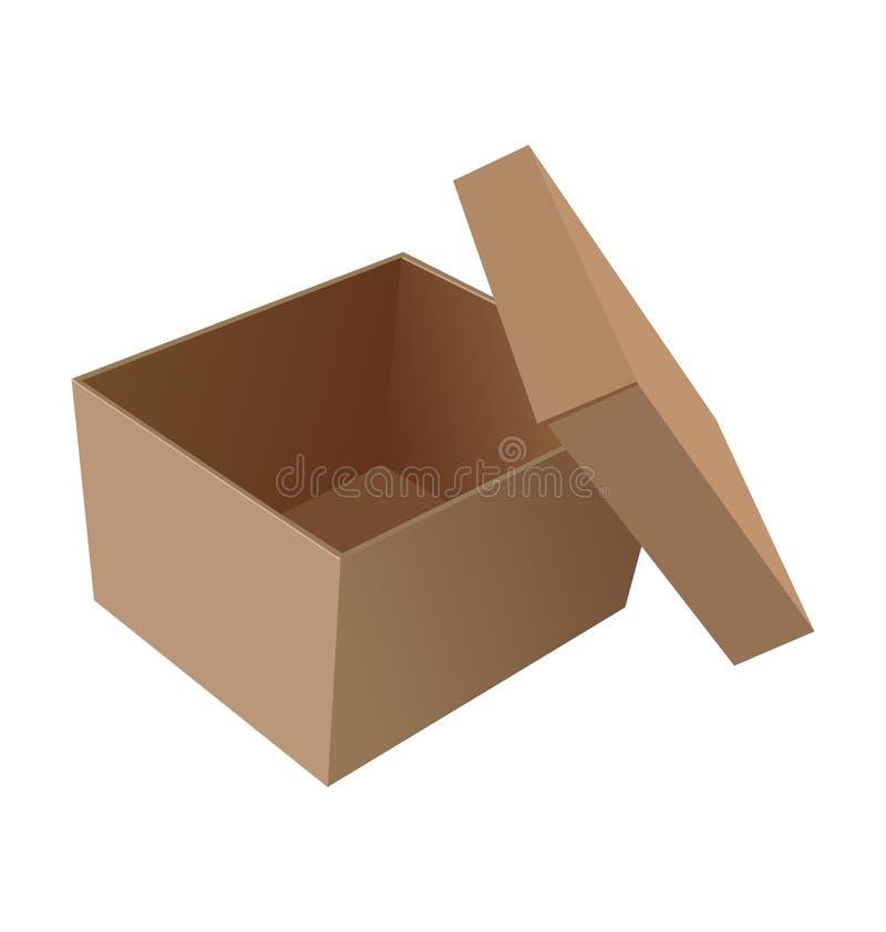 Realistic illustration isolated open box royalty free illustration