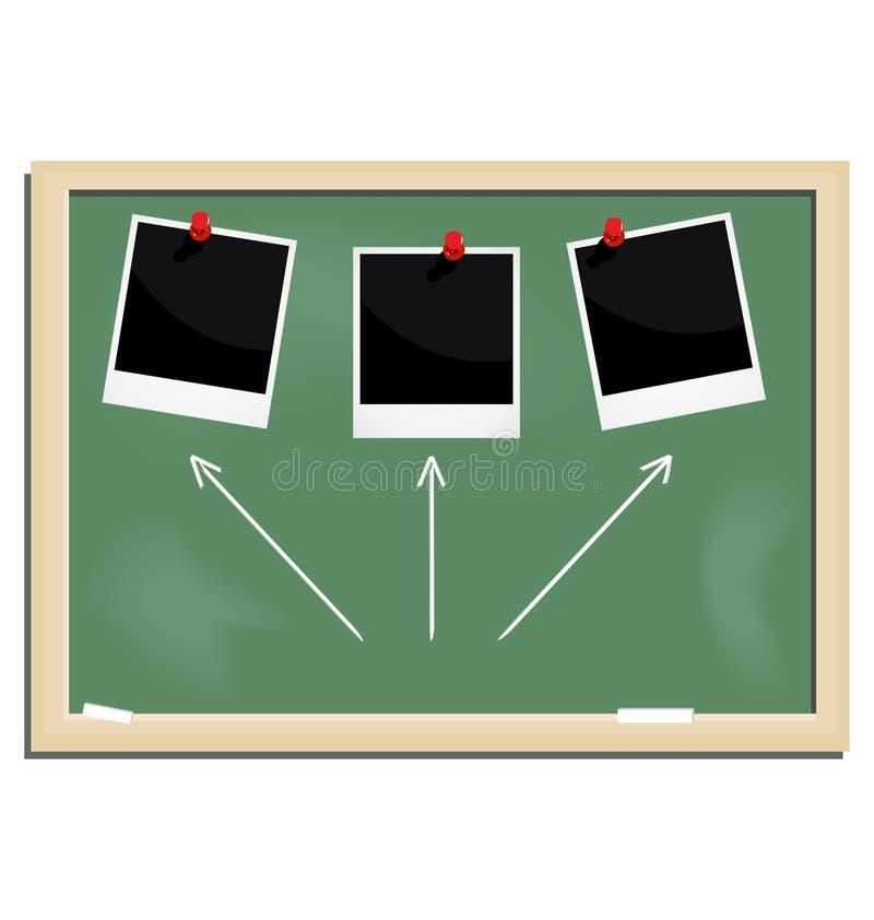 Realistic illustration school blackboard vector illustration