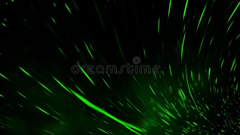 Realistic isolated green effect for decoration and covering on black background. Concept of particles , sparkles, flame and light. Realistic isolated green royalty free stock photos
