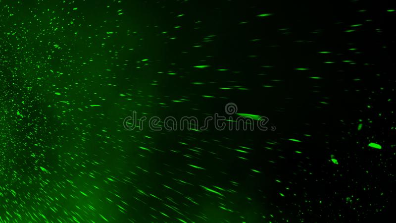Realistic isolated green effect for decoration and covering on black background. Concept of particles , sparkles, flame and light. Realistic isolated green stock photo
