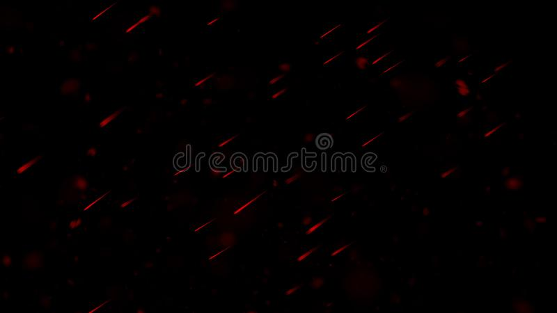 Realistic isolated red effect for decoration and covering on black background. Concept of particles , sparkles, flame and light. Realistic isolated red effect stock image