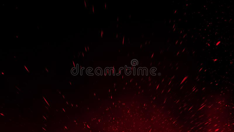 Realistic isolated red effect for decoration and covering on black background. Concept of particles , sparkles, flame and light. Realistic isolated red effect stock photos