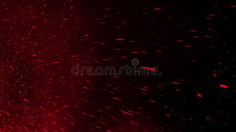 Realistic isolated red effect for decoration and covering on black background. Concept of particles , sparkles, flame and light. Realistic isolated red effect stock photo