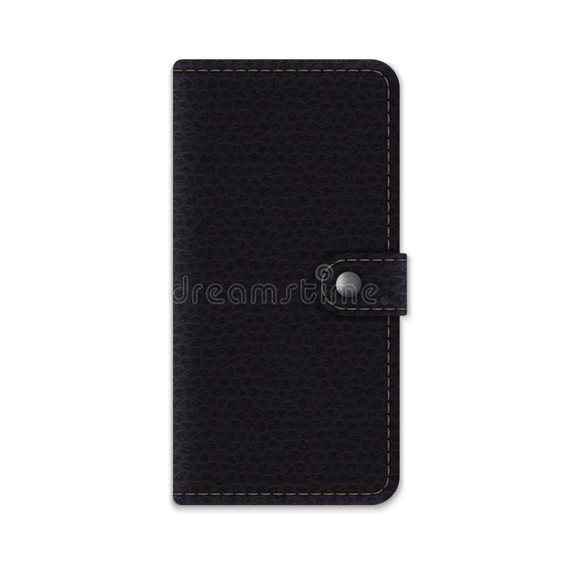 Realistic leather phone case stock photo