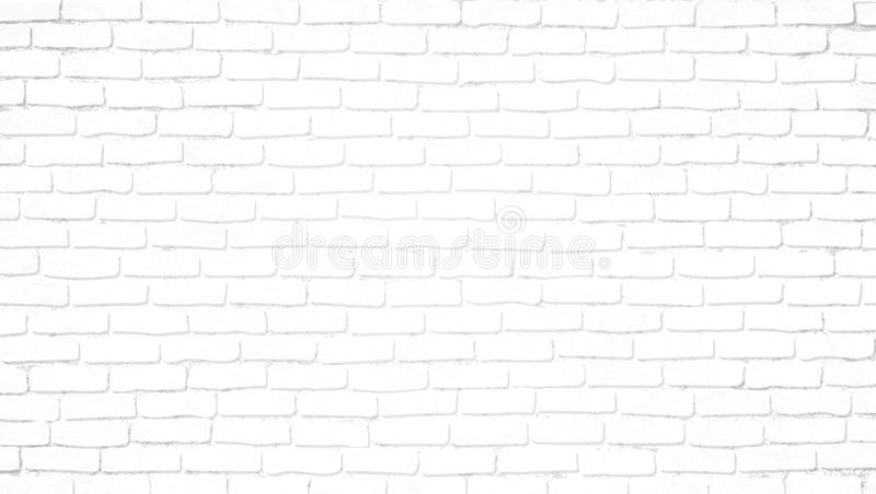 Realistic light white brick wall background. Distressed overlay texture of old brickwork, grunge abstract halftone pattern. royalty free illustration