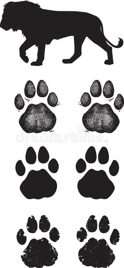 Free Realistic Lion Tracks Or Footprints Royalty Free Stock Image - 30405456