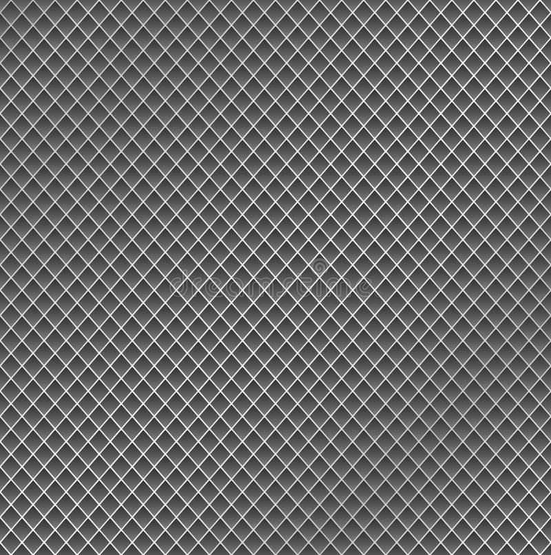 Realistic metal grid texture background. Structure of metal mesh fence with highlights and shadows. Vector backdrop. vector illustration