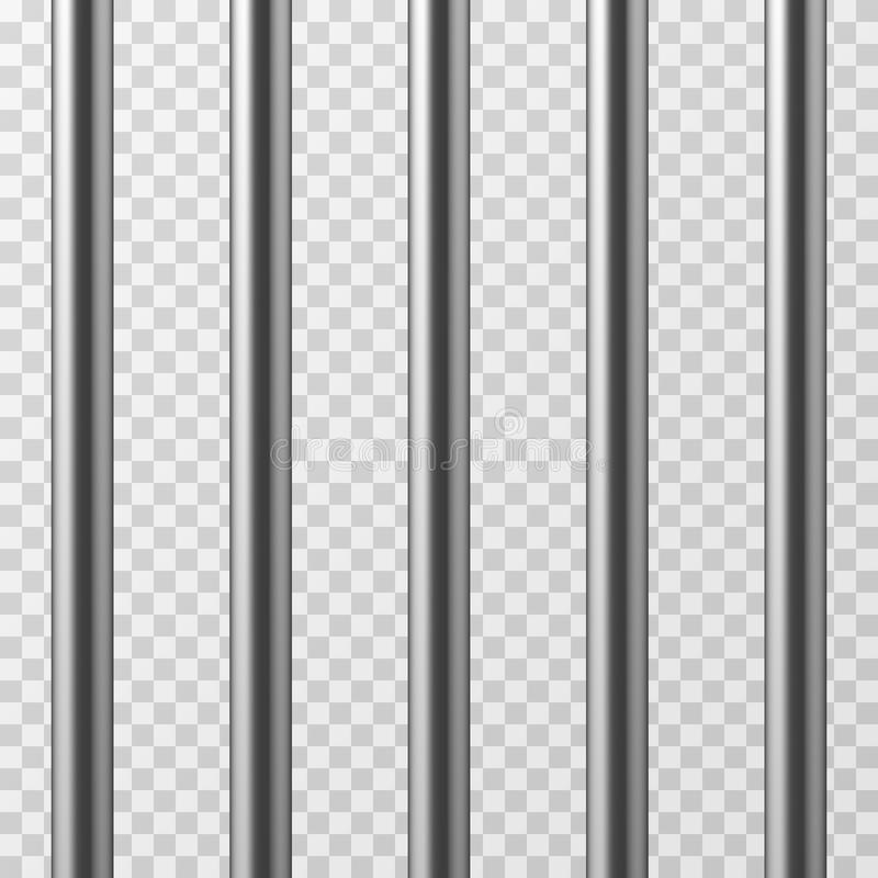 Free Realistic Metal Prison Bars. Jailhouse Grid Vector Illustration Stock Images - 95496634