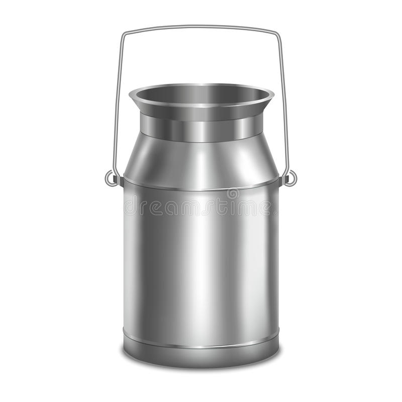 Free Realistic Metal Shiny Milk Container. Vector Stock Photo - 85198380
