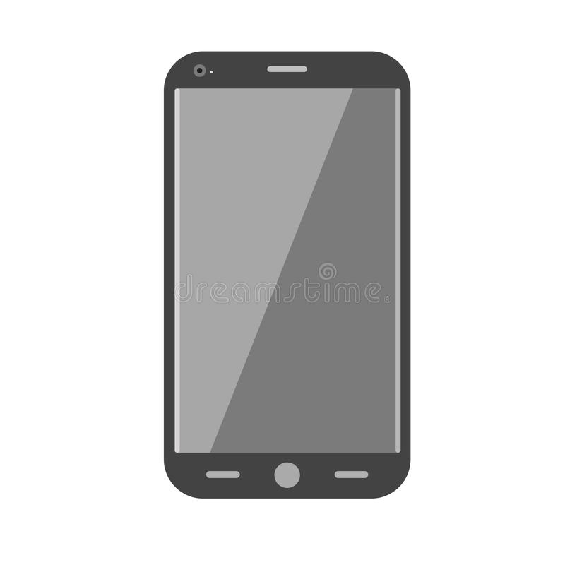 Realistic mobile phone isolated on white. Communication device. Smartphone realistic vector design. Digital phone office equipment element. Electronic stock illustration