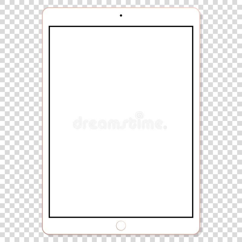 Realistic modern touchscreen tablet mock up vector stock illustration