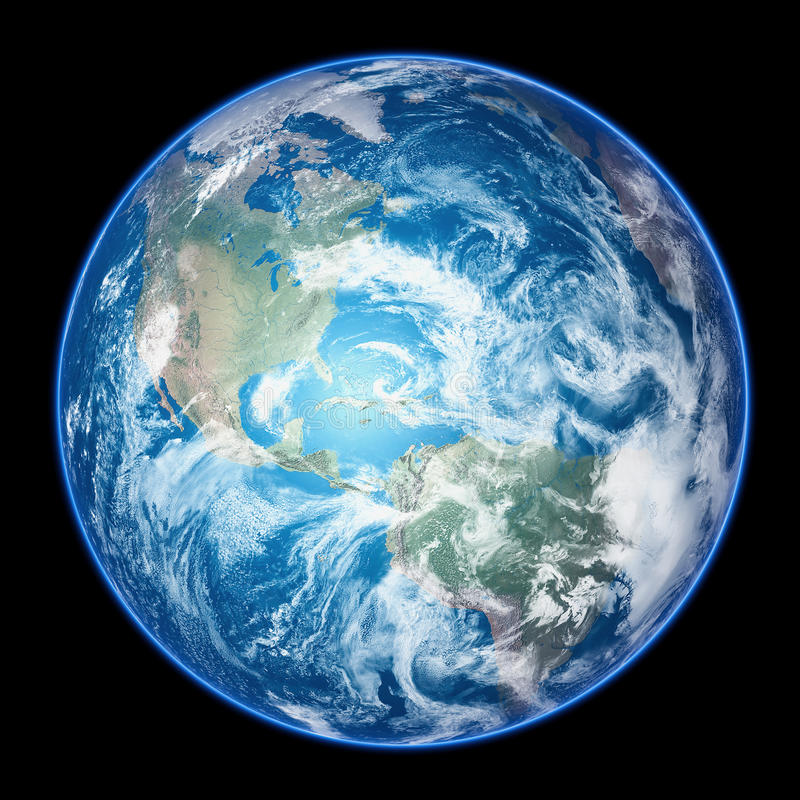 Realistic Earth royalty free stock images