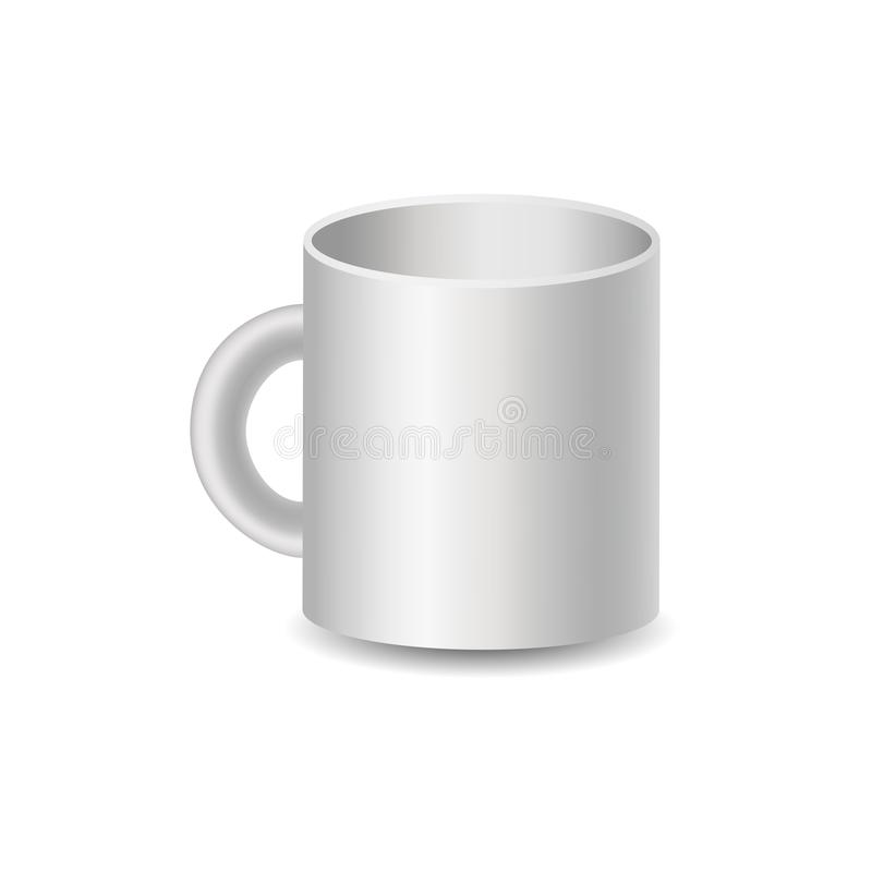 Realistic mug illustration, vector image vector illustration
