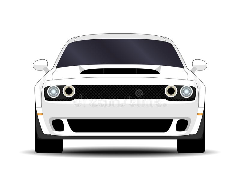 Realistic Muscle car vector illustration