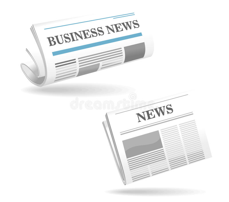 Realistic newspaper icons. For web or another design vector illustration